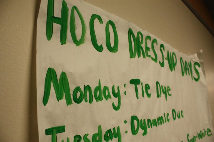 Poster describing the dress-up days