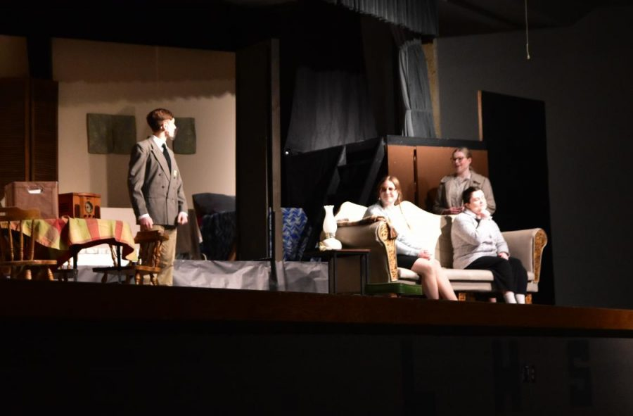 The+drama+class+performs+in+front+of+the+LJHS+eighth-grade+class+Thursday.+