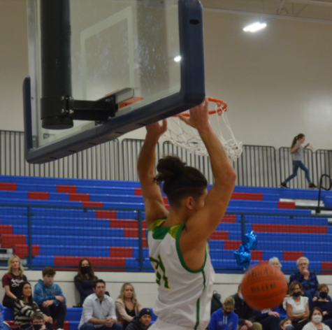 Jalen Skalskiy dunking on the CHS court on a transition play Wednesday night, February 10th.
