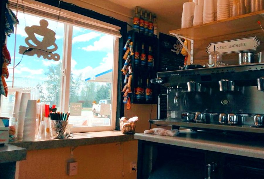 An inside look of Ground Up Coffee in Sagle, Idaho. Taken on Mother's Day at 12:12p.m. while waiting for the next customer.